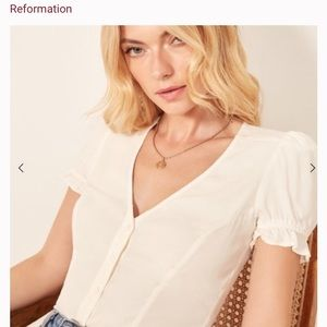 🌟new Reformation Allegra blouse top size XS